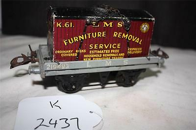 PREWAR  HORNBY  CONTAINER  WAGON  FURNITURE REMOVAL SERVICE [ k2437]