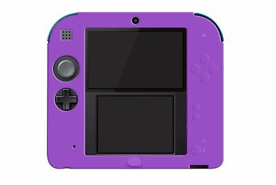 Hellfire Trading 2DS Purple Silicone Soft Cover Rubber Gel Skin Case