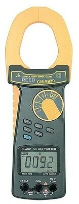 Reed CM-9930 True RMS AC/DC Clamp Meter, 2000 A