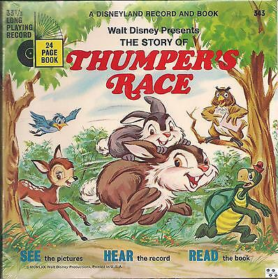 THE STORY OF THUMPER'S RACE Disneyland 343 Book & Record Disney SEALED