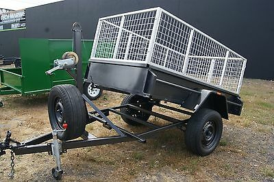 6x4 Manual Tipper Trailer with 2ft Galvanised Cage