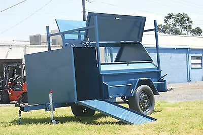 7x4 Tradesman Top Heavy Duty Trailer with Compressor Box Fixed & Jockey Wheel