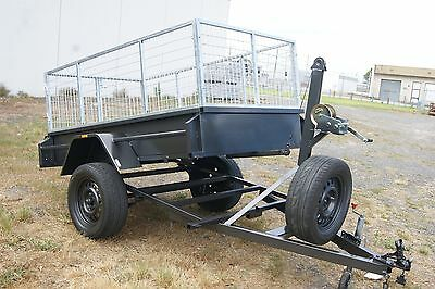 8x4 Manual Tipper Box Trailer with 2ft Galvanised Cage