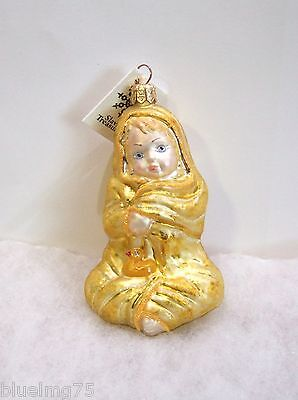 Slavic Treasures Ornament Bath Wrap Glass Poland Baby Yellow Duckie NIB (S6)
