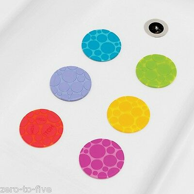 MUNCHKIN 6 LARGE GRIPPY NON SLIP BATH DOTS - Baby and Toddler Safety mat