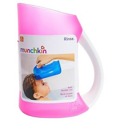 Munchkin Pink Shampoo Rinser -Wash Baby Toddler Hair and Water Out Of There Eyes