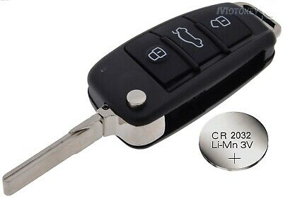 Fits AUDI A3 A4 A6 TT Replacement 3 button REMOTE KEY CASE with battery CR2032