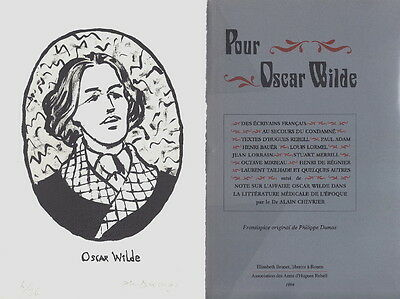 Eo Hc Tirage Luxe N° + Lithographie Originale Philippe Dumas : Pour Oscar Wilde