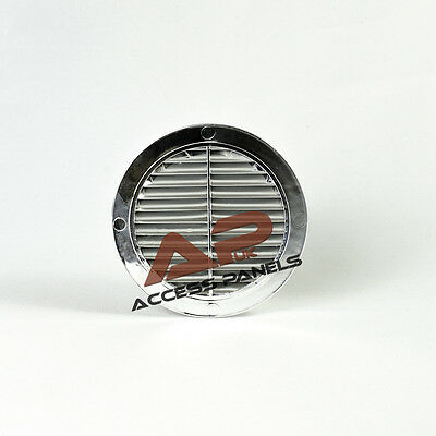 """Circle Air Vent Grille Cover CHROME 100mm (4"""") Ducting Ventilation Grill Cover"""