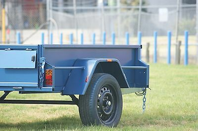 "7x4 Box Trailer with 16"" High Sides & Jockey Wheel"