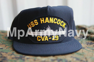 USS HANCOCK CVA-19 NAVY Military Baseball Hat Cap MENS EMBROIDERED USA