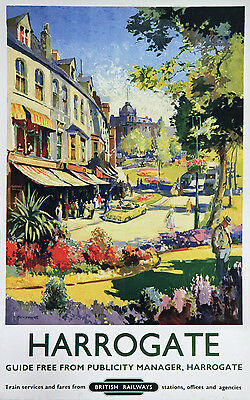 HARROGATE BRITISH RAILWAY Vintage Deco Railway/Travel Poster A1,A2,A3,A4 Sizes