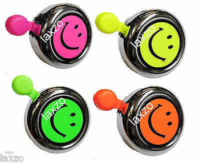 Widek BE1008 Florescent Smiley Bell with fittings for Bike Cycle Bicycle Cycling