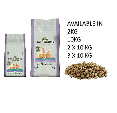 Harringtons (Wagg) Optimum Complete Rabbit Dry Food Feed Kibble (2,10 20 30 Kg)