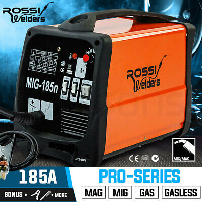 NEW ROSSI Welder 185 Amp  MIG MAG Gas Gasless Welding Machine Portable Tool 185A
