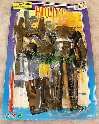 "STAR WARS Bootleg 10"" Luke Skywalker in Police Riot Gear MOC Boba Fett Companion"