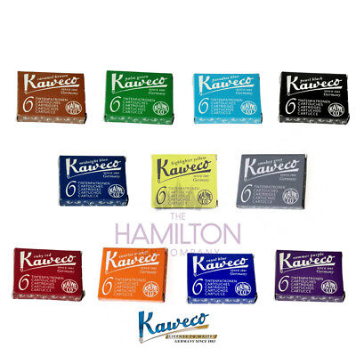 KAWECO INK CARTRIDGES - all colours available in packs of 6