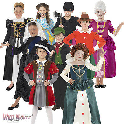Boys / Girls Book Week Horrible Histories Fancy Dress Costumes Ages 7-12 Years
