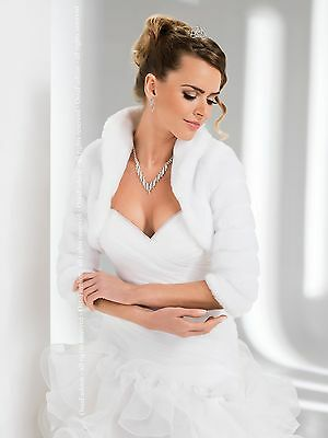 New Women Wedding Faux Fur Shrug/cape/bolero/wrap/jacket/tippet/coat (S-Xxl)