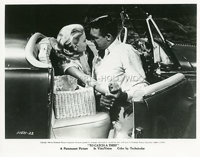 Cary Grant Grace Kelly To Catch A Thief Alfred Hitchcock 1955 Vintage Photo #5
