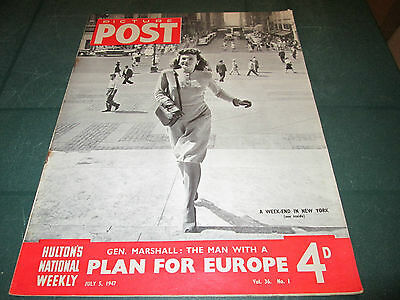 PICTURE POST MAGAZINE 5th JULY 1947 - VOL.36 NO.1 - PLAN FOR EUROPE