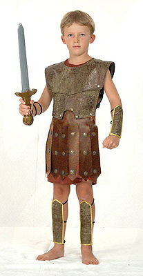 Roman Boys Gladiator Warrior Soldier Centurian Costume Outfit  New 4-6-8-10-12