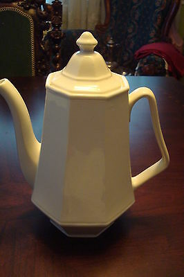 """Coffee pot, Ironstone? , very decorative,  unmarked 10 1/2"""" tall"""