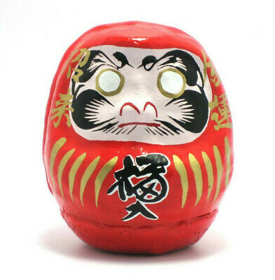 "Japanese 2-1/4""H Classical Red Daruma Doll for Good Luck Success Made in Japan"