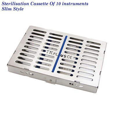 Sterilization Stainless Cassette Tray,Rack for 10 Surgical instrument Top Quilty