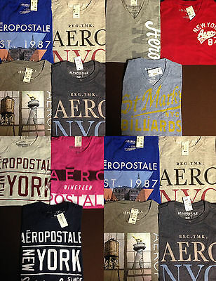 NWT Aeropostale Mens T Shirts Lot of 10 Extra Small XS Worldwide ship Resale