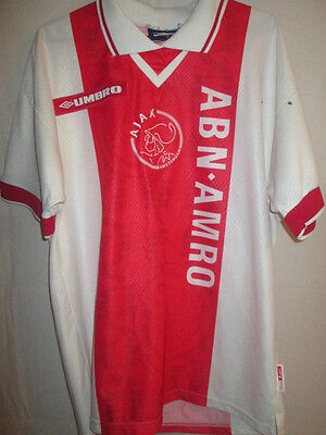 Ajax 1997-1998 Match Worn Home Football Shirt Size Medium /6417