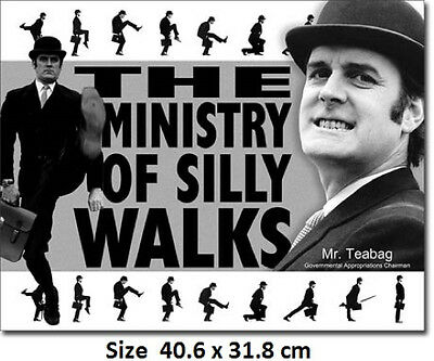 Monty Python Ministry Of Silly Walks - John Cleese Tin Sign 1956 -Post Discounts