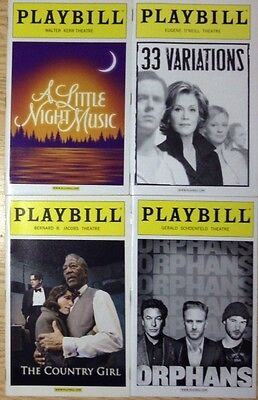 Lot 4 Playbill mint: 33 Variations, Orphans, Country Girl, A Little Night Music