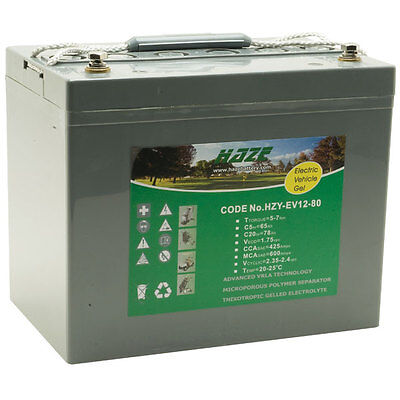 12V 80AH GEL/AGM Battery for Mobility Scooter (Replaces the 75ah Battery)   V