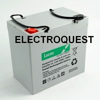 Lucas 55AH Battery for Mobility Scooter, Wheelchair   V