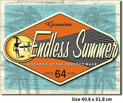 Surfing -The Endless Summer Genuine  Metal Tin Sign 1138 Made in USA