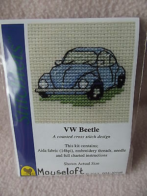 MOUSELOFT STITCHLETS CROSS STITCH KIT ~ VW BEETLE ~ 004-J01stl ~ NEW