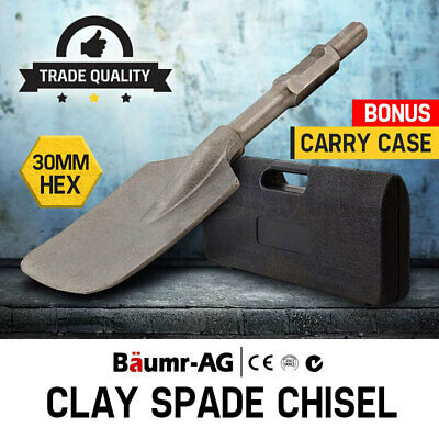 NEW Baumr-AG Jackhammer Clay Spade Chisel Extra Wide Square-Tipped  Jack Hammer