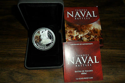 2010 Famous Naval Battles 1Oz Silver Proof Coin Series The Battle Of Salamis 480