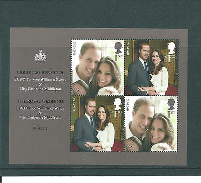 Gb Miniature Sheet - 2011 - Royal Wedding - Unmounted  Mint