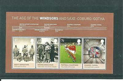 GB MINIATURE SHEET - 2012 - THE AGE OF THE WINDSORS - UNMOUNTED  MINT