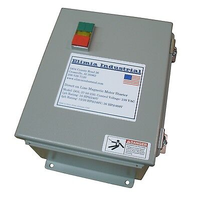 Elimia DOL Magnetic Motor Starter 20 HP 120V 23-32A Hinged Steel Enclosure (40)