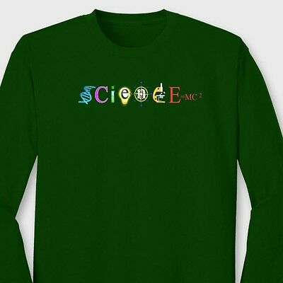SciencE=MC2 Funny Einsteins Physics T-shirt Mass Energy Equation Long Sleeve Tee