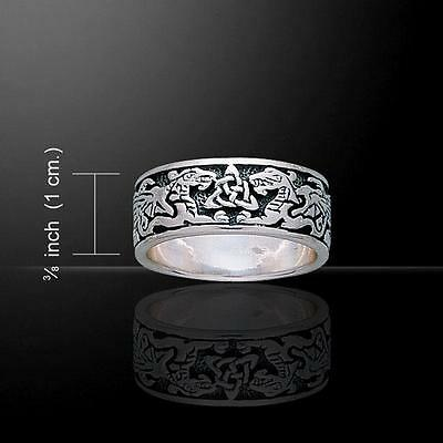 Celtic Dragons Silver Ring TR842