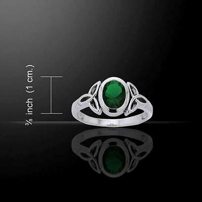 Celtic Trinity Knot Ring TRI887 Size Selectable