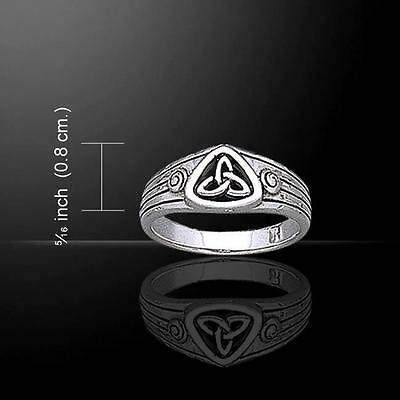Triquetra Silver Ring TR1891 Size Selectable