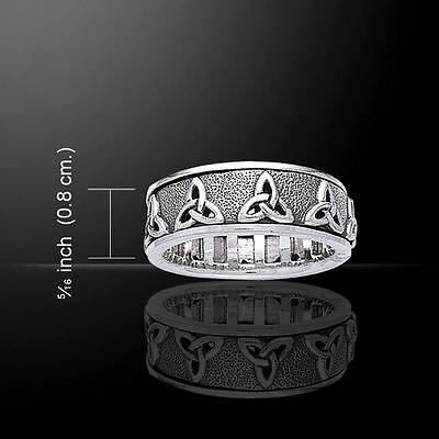 Celtic Knotwork Silver Spinner Ring TR3736
