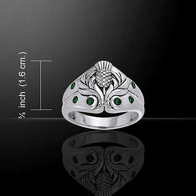 Celtic Thistle Silver Ring TRI354