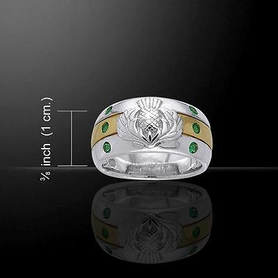 Celtic Thistle Silver Ring MRI356