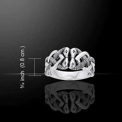 Irish Celtic Quadruple SNAKE Ring - Made from .925 sterling silver - Size Select